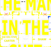 The Man in the Suit of Interest Sticker