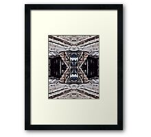 Take the Stairs Down to the Roof Framed Print