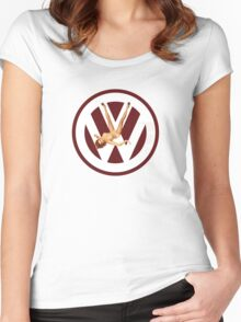 Volkswagen Pin-up (red) Women's Fitted Scoop T-Shirt