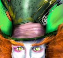 Cheshire Cat & Mad Hatter Alice in Wonderland Sticker