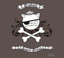 Kwazii Pirate Skull Baby Tee