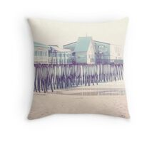 Old Orchard Beach Pier, Maine Throw Pillow