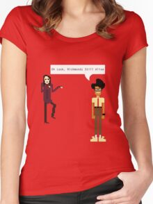oh look, richmonds still alive Women's Fitted Scoop T-Shirt