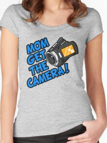 MOM GET THE CAMERA! Women's Fitted Scoop T-Shirt