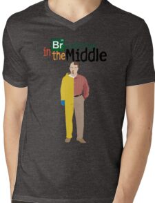 Breaking In The Middle Mens V-Neck T-Shirt