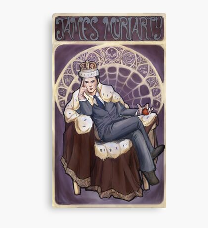 Villain Nouveau- Jim Moriarty Canvas Print