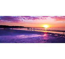 Frankston waterfront at sunset, Port Phillip Bay, Victoria Photographic Print