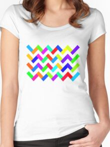 CoolColours Women's Fitted Scoop T-Shirt