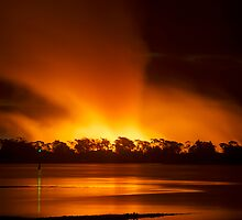 Fires over the Tamar 1 by Zachary Golus