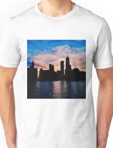 Silhouetted Skyline Unisex T-Shirt