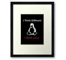 I think Linux Framed Print