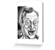 Rodney Dangerfield Caricature Greeting Card