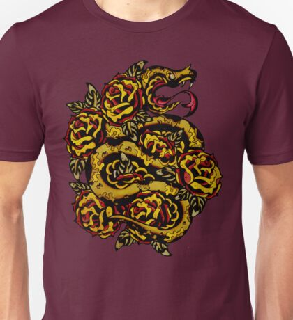 Traditional Snake Tattoo Design Unisex T-Shirt