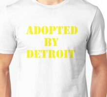 Adopted By Detroit™ Yellow Lettering Unisex T-Shirt