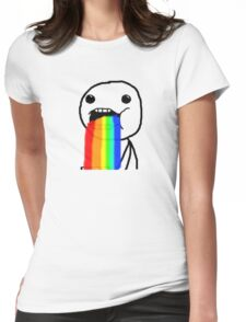 Puking Rainbow Womens Fitted T-Shirt