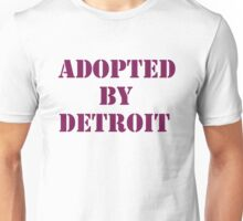 Adopted By Detroit™ Purple Lettering Unisex T-Shirt