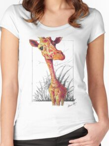 Hello There Giraffe Women's Fitted Scoop T-Shirt
