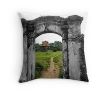 The grass may be greener... Throw Pillow