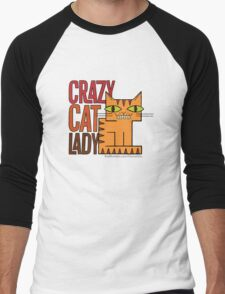Crazy Cat Lady Men's Baseball ¾ T-Shirt