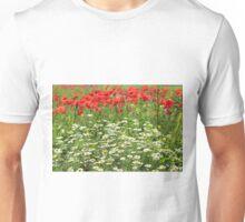 chamomile and poppy flowers Unisex T-Shirt