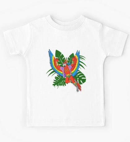 Scarlet Macaw - Pack Of Hereos Kids Tee