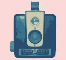 Classic Hawkeye Camera Design in Blue Kids Clothes