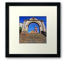©MS Tlalpujahua Portal IA Framed Print