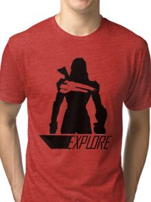 Explore I - White Background Tri-blend T-Shirt