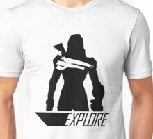 Explore I - White Background Unisex T-Shirt