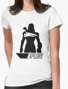 Explore I - White Background Womens Fitted T-Shirt