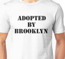 Adopted By Detroit™ Presents Adopted By Brooklyn Black Lettering  Unisex T-Shirt
