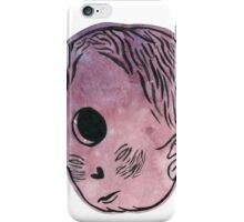 Alien head space doodle iPhone Case/Skin