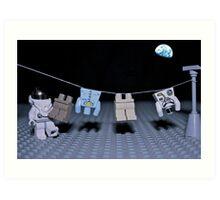 Lunar Laundry Day Art Print
