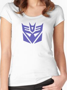 Transformers Decepticons Logo Women's Fitted Scoop T-Shirt