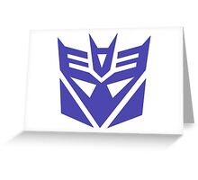 Transformers Decepticons Logo Greeting Card