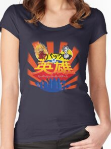 Japanese Pack Of Heroes - Hot Foot Vs Rose 3000  Women's Fitted Scoop T-Shirt