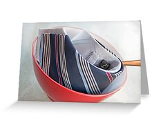Tie Food Greeting Card