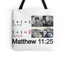 Matthew 11:25 Tote Bag