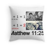 Matthew 11:25 Throw Pillow