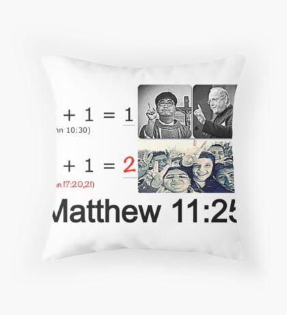 Matthew 11:25 Throw Pillow