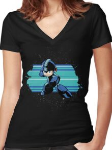 Megaman the Hero of 200x and 20xx Women's Fitted V-Neck T-Shirt
