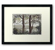 Smith's Lake Trees Framed Print