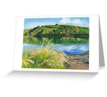 Dawn over Akaroa Harbour Greeting Card