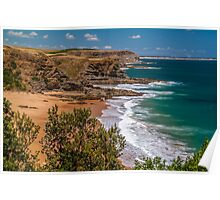 Half Moon Bay from the Clifftop. Poster