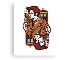 Dr Who [Card ver.] Canvas Print