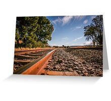 Railroad Tracks Beauty... Greeting Card