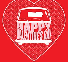 Valentine's Day VW Camper Bay Red by splashgti