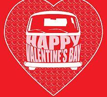 Valentine's Day VW Camper Bay Red by splashgti
