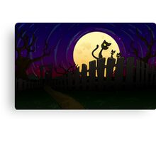 Halloween Fence Canvas Print