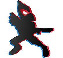 Falco 3D - Super Smash Bros. Photographic Print